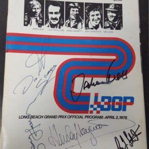 1978 Long Beach Program Signed by George Harrison and Others