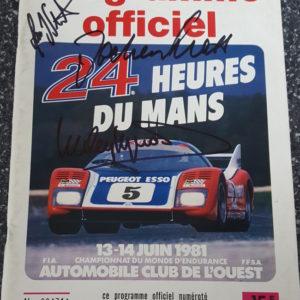 1981 Le Mans Program