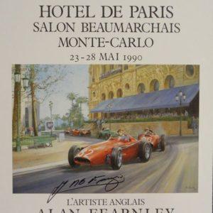 1990 Hotel de Paris Signed by Fangio