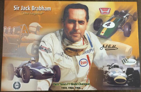 Jack Brabham - The Legend Autographed Poster