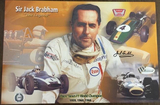 Jack Brabham - The Legend Signed Poster