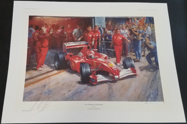 Just Another Day At The Office Michael Schumacher print