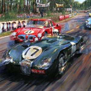 Le Mans 1953 poster car racing art for sale
