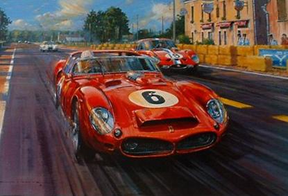 Poster Mulsanne Shadows Le Mans 1962 Nicholas Watts