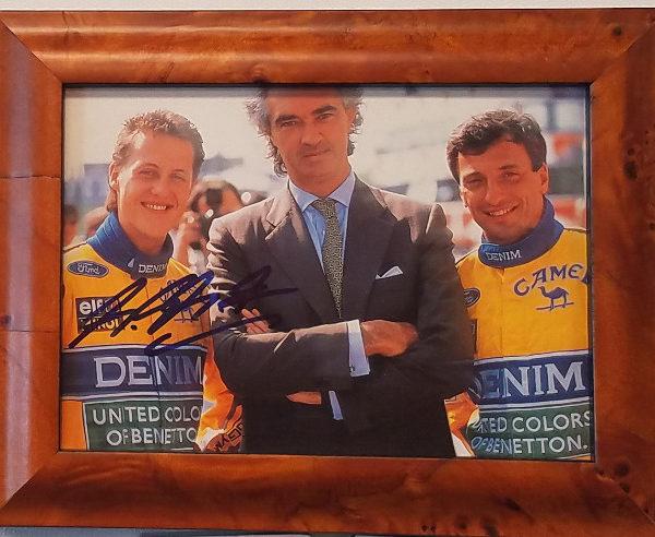 Schumacher Signed Benetton Photo Car Racing