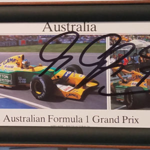 Schumacher Australian GP Autographed Card Car Racing