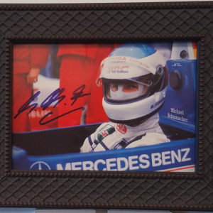 Schumacher Autographed Photo Car Racing