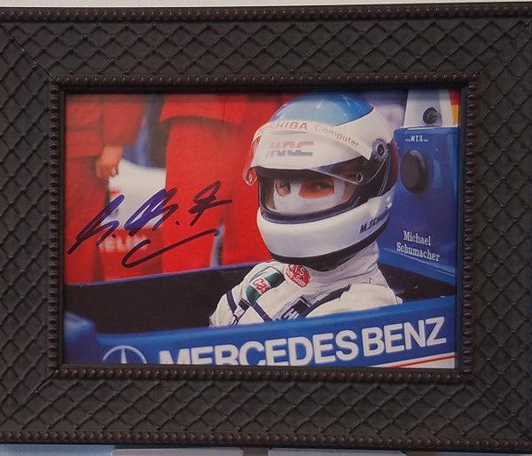 Schumacher Autographed Photo Car Racing