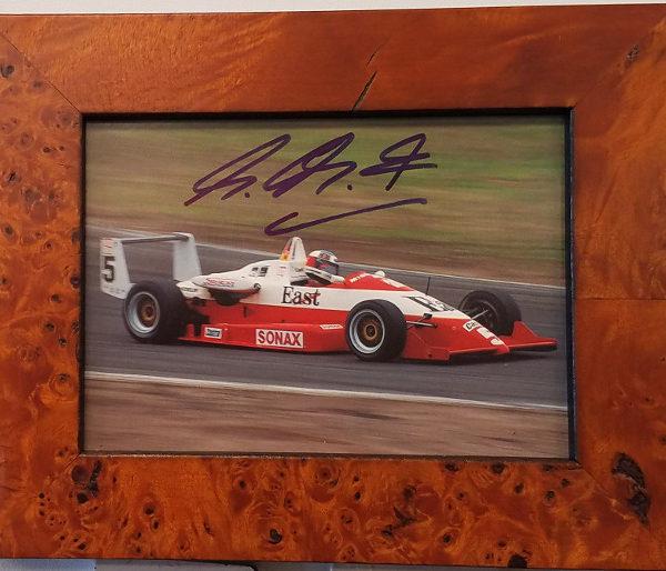 Schumacher Signed Photo Car Racing