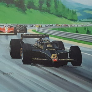 Tribute to Ronnie Peterson Print - Simon Ward - Close Up