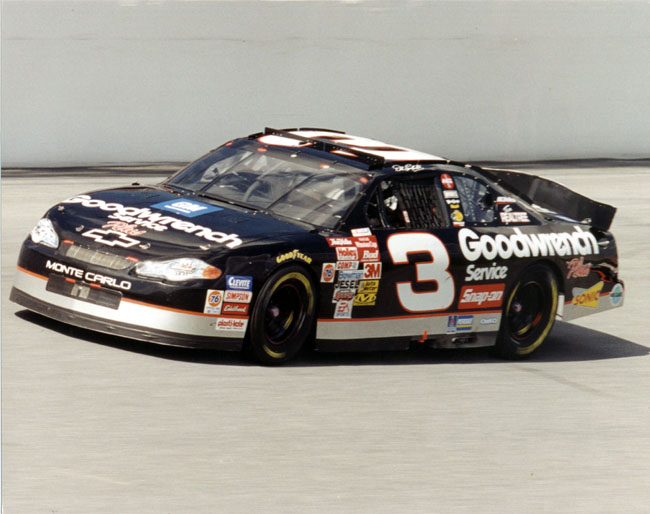 8 X 10 Color Photo Of Dale Earnhardt In The Goodwrench 3 Car