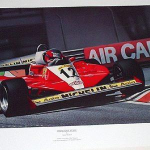 Frequent Flyer Gilles Villeneuve Print