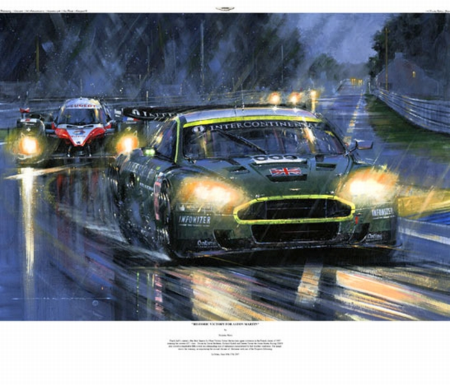 Historic Victory For Aston Martin Autographed Freck S Auto Art