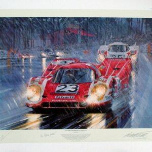Victory for Porsche LeMans 1970 - Watts