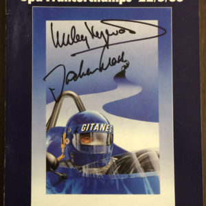 1983 Belgium GP Autographed Program