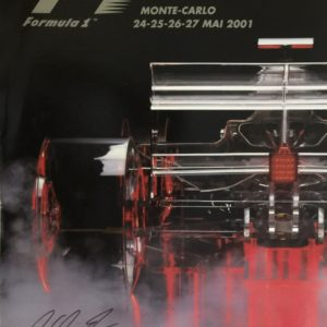 2001 Monaco Grand Prix Autographed Poster