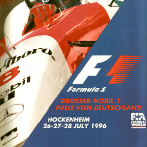 Signed original auto art memorabilia 1996 Hockenheim Program