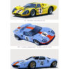 Car racing poster of GT40 Amelia 2013 by Charles Maher