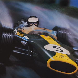 Poster auto art of Jim Clark Lotus Keith Murray