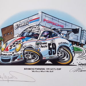 Brumos Porsche 911 Signed by Hurley Haywood