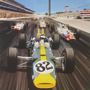 Jim Clark 1965 by Roger Warrick