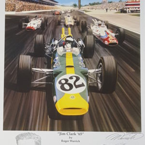Jim Clark '65 by Roger Warrick signed autographed