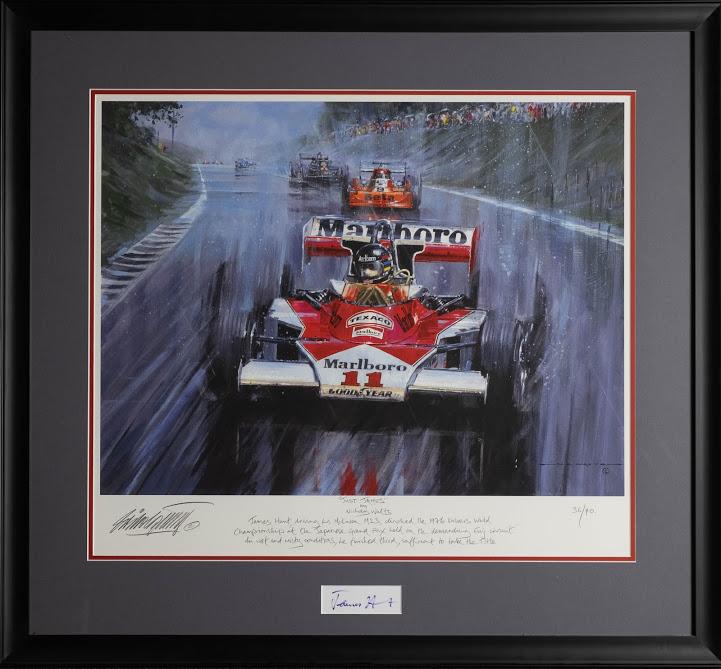 James Hunt signed autograph prinr photo Motor Sport Formula 1 Framed #11