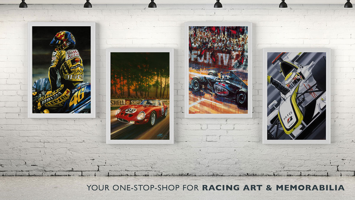 Shop Auto Racing Autographed and Framed Memorabilia Online
