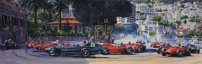 First Corner - Monaco Grand Prix 1957 - Nicholas Watts