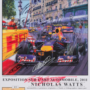 Monaco 2011 Poster with 11 Autographs - Watts