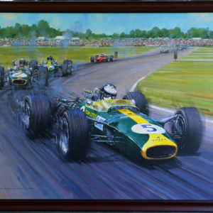 Jim Clark Team Lotus Painting_Watts