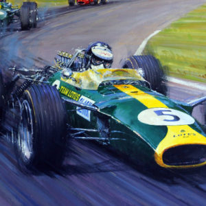 Jim Clark Team Lotus_Painting_Nicholas Watts