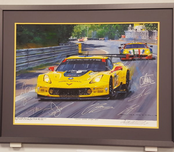 Corvette Thunder Framed Painting - Watts