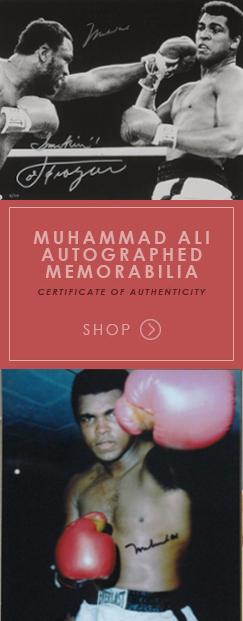 Muhammad Ali Autographed Memorabilia - Certificate of Authenticity