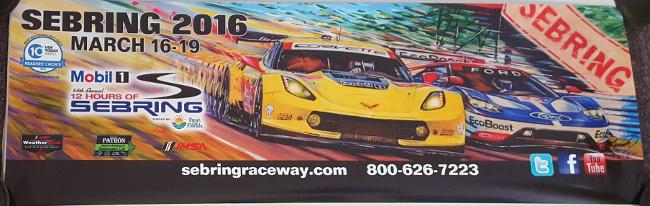 Sebring 2016 Banner Poster - Roger Warrick