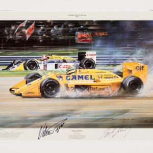 Triple Champion Signed by Senna & Piquet