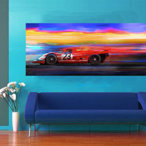 1971 Porsche 917 on wall - Alan Greene