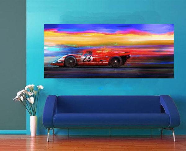 1971 Porsche 917 on wall - Alan Greene