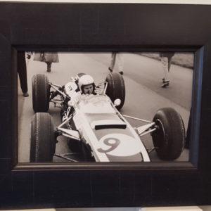 Bruce McLaren 1965 Silverstone Framed Photo
