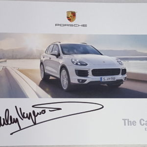 Cayenne 2016 Brochure Signed by Haywood