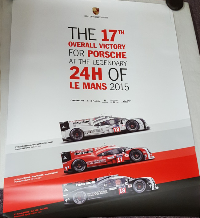 porsche lemans 2015 poster. Black Bedroom Furniture Sets. Home Design Ideas