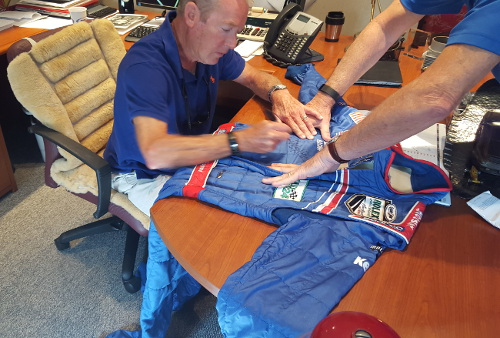 Haywood Signing 2007 Racing Suit