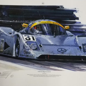 Schumacher at LeMans 1991 Print