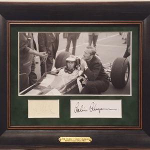 Jim Clark & Colin Chapman Framed Photo with Autographs 3