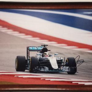 Lewis Hamilton Autographed Photo 5