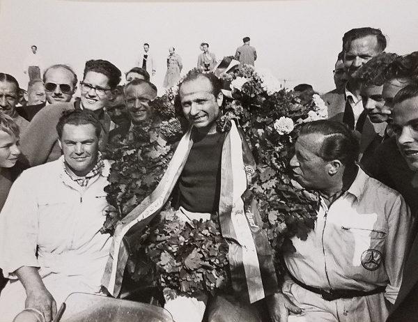 Fangio 9 Car Racing Photo