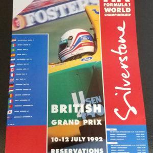 1992 Silverstone Poster