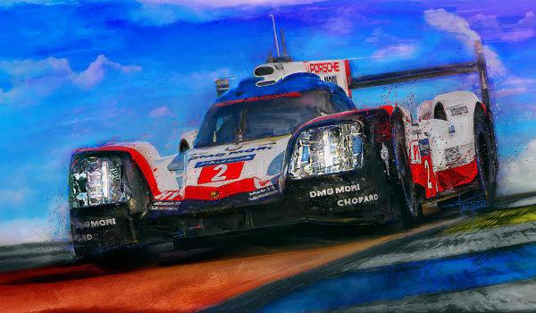 Hat Trick Alan Greene Porsche Le Mans Print