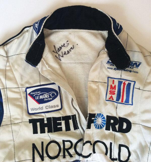 James Weaver Racing Suit Front Collar