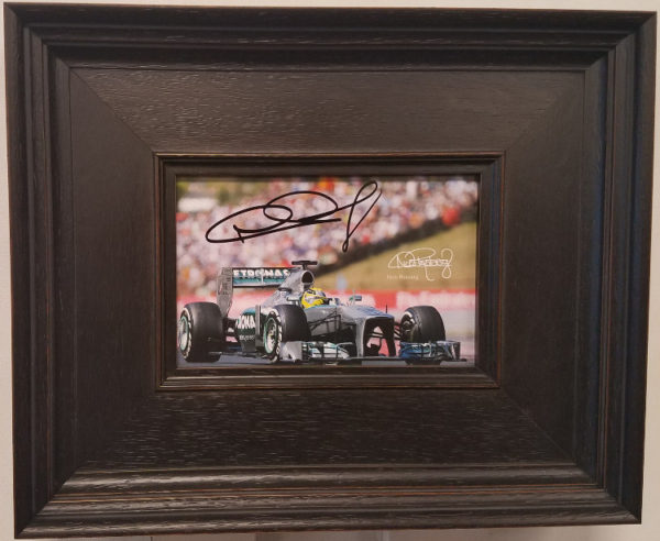 Nico Rosberg Autographed Framed Photo Card